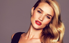 Picture background, model, portrait, makeup, actress, hairstyle, blonde, Rosie Huntington-Whiteley, Rosie Huntington-Whiteley, Glamour, David Bell-Mère
