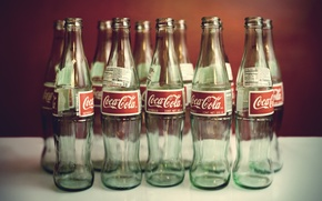 Wallpaper water, style, mood, bottle, drinks, coca-cola, Coca-Cola