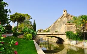 Picture the city, the building, fortress, structure, Palma de Mallorca