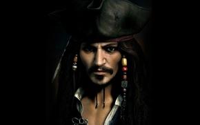 Picture hat, captain, Johnny Depp, Jack Sparrow