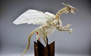 Wallpaper paper, origami, dragon