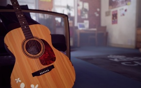 Picture room, the game, guitar, Life is Strange
