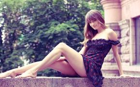 Picture look, girl, dress, legs, julia i