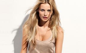 Picture girl, smile, model, look, blonde, Edita Vilkeviciute