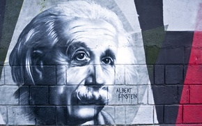 Picture wall, pattern, albert einstein