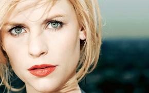 Wallpaper Claire Danes, claire danes, eyes, lips, earrings
