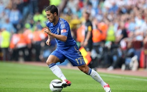 Wallpaper the ball, football, club, Chelsea, Chelsea, stadium, player, player, Eden, Eden, Azar, Hazard, Nike