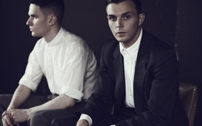 Picture group, men, UK, Theo Hutchcraft, Hurts, Theo Hutchcraft, Adam Anderson, Adam Anderson