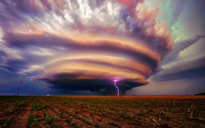Picture the storm, field, clouds, storm, zipper, USA, Ne