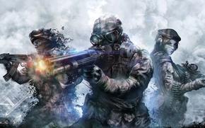 Wallpaper sugoi, AK 47, uniform, mask, warriors, flag, AK, Russia, sniper, Warface, game, ops, beret, power, ...