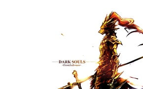 Wallpaper game, wolf, knight, games, boss, dark souls, dark souls, knight, Ornstein, ornstein
