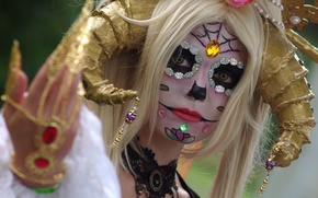 Picture girl, face, style, holiday, makeup, paint