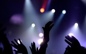Picture hands, Concert, floodlights