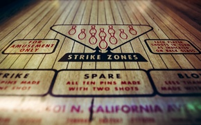 Picture the game, bowling, Strike Zones