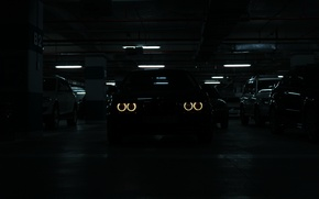 Picture bmw, Parking, e39, angel eyes