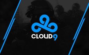 Picture strip, logo, black background, special forces, counter-strike, csgo, cs go, cloud9