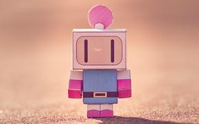 Picture paper, cardboard, figure, bomber man