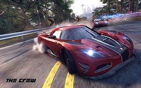 Picture Koenigsegg, red, police, Ubisoft, Agera R, The Crew