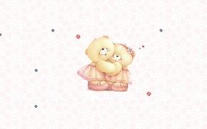 Picture mood, art, bear, children's, girlfriend, Forever Friends Deckchair bear