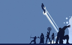 Wallpaper Scarlett Johansson, shield, iron man, Hulk, Thor, captain America, Robert Downey ml, Chris Evans, Mark, ...
