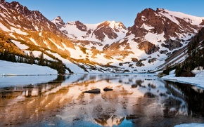 Picture mountains, nature, lake, reflection, spotted