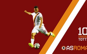 Picture wallpaper, sport, football, player, AS Roma, Francesco Totti