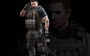 Picture gun, resident evil, biohazard, soldier, weapon, rifle, resident evil 6, chris redfield, bulletproof vest, bsaa, …