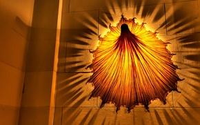 Wallpaper yellow, shadow, Lamp