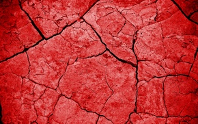 Picture cracked, earth, texture, red