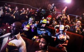 Picture batman, Bioshock, Resident Evil, Joker, left 4 dead, Harley Quinn