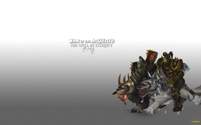 Picture wolves, warriors, orcs, wow, world of warcraft, Thrall, The leader, Horde, Thrall and Krogash