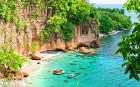 Picture Caribbean, secret beach, Dominica & St. Lucia