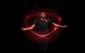 Picture wallpaper, sport, football, player, AS Roma, Seydou Keita, The Professor