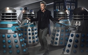 Picture actor, male, booth, Doctor Who, Doctor Who, The TARDIS, TARDIS, Far, Far, Peter Capaldi, Peter …