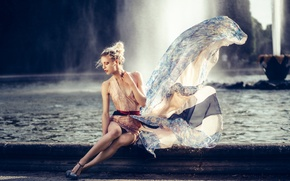 Picture pose, style, model, dress, fountain, Nana Likes To Exaggerate