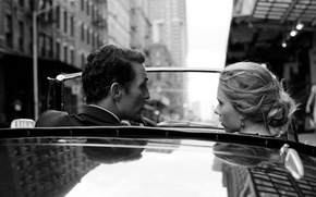 Picture road, machine, girl, street, actress, Scarlett Johansson, blonde, actor, male, Scarlett Johansson, Dolce & Gabbana, ...