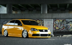 Picture yellow, jetta