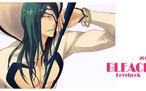 Picture hood, bracelet, Bleach, Bleach, green hair, long hair, sword, eye patch, Nnoitra Jiruga, Haruya Takamiya, …