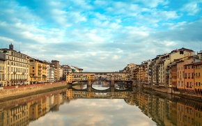 Picture river, building, Italy, Florence, Italy, Florence, Old Bridge, Old bridge