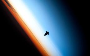 Wallpaper orbit, Shuttle, the atmosphere