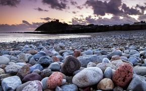 Picture landscape, stones, shore