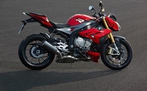 Picture Red, Bike, BMW S1000 R Concept, Asphalt