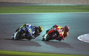 Picture night, race, track, Motorcycles