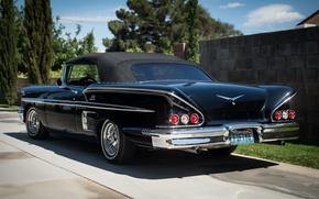 Picture retro, Chevrolet, classic, Chevy, Impala, 1958