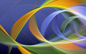 Picture rays, line, paint, color, bending, the volume, loop
