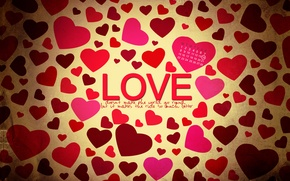 Wallpaper love, heart, Valentine's day, date, February