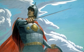 Picture Vasiliev, Russian, knight