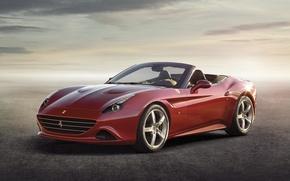 Picture red, Ferrari, Ferrari, supercar, the front, California T, California T