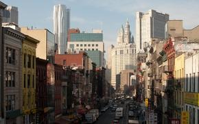 Picture city, New York, USA, USA, New York, street, Buildings