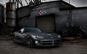 Picture black, Matt, Dodge, black, Viper, Dodge, Viper, the front part, SRT10